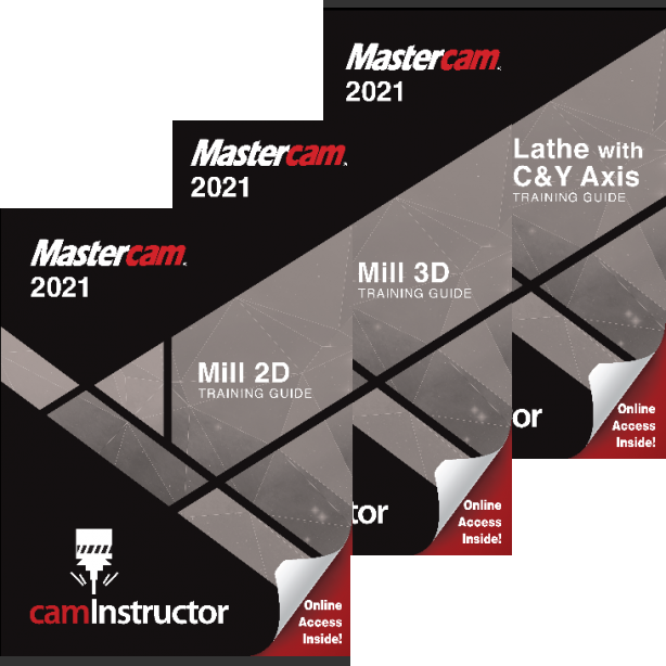Preview of Mastercam 2021 - Mill 2D&3D&Lathe Training Guide Combo