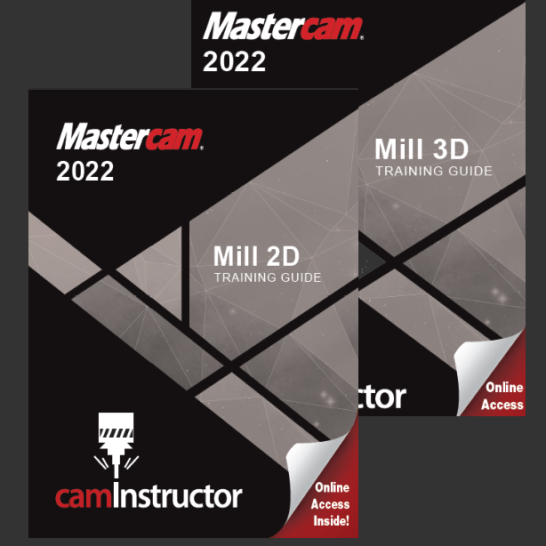 Preview of Mastercam 2022 - Mill 2D & 3D Training Guide Combo